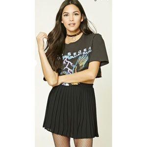 ASOS Black pleated skirt